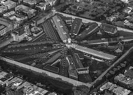 Aerial view of Eastern State Penitentiary